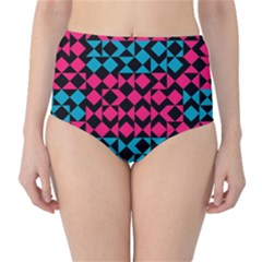 Rhombus And Triangleshigh Waist Bikini Bottoms by LalyLauraFLM