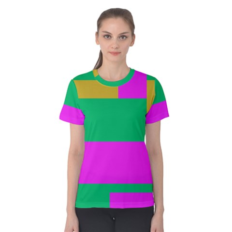 Rectangles And Other Shapes Women s Cotton Tee by LalyLauraFLM