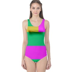 Rectangles And Other Shapes Women s One Piece Swimsuit by LalyLauraFLM