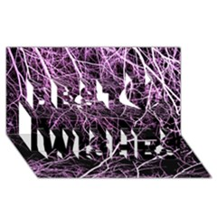 Purple Twigs Best Wish 3d Greeting Card (8x4)