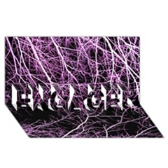 Purple Twigs Engaged 3d Greeting Card (8x4)  by timelessartoncanvas