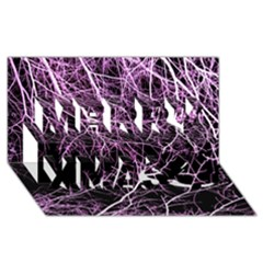 Purple Twigs Merry Xmas 3d Greeting Card (8x4)  by timelessartoncanvas