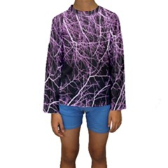 Purple Twigs Kid s Long Sleeve Swimwear by timelessartoncanvas