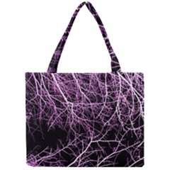 Purple Twigs Tiny Tote Bags by timelessartoncanvas