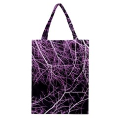 Purple Twigs Classic Tote Bags by timelessartoncanvas