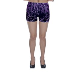 Purple Twigs Skinny Shorts by timelessartoncanvas