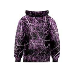 Purple Twigs Kids  Pullover Hoodie by timelessartoncanvas