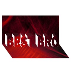 Red Abstract Best Bro 3d Greeting Card (8x4)  by timelessartoncanvas