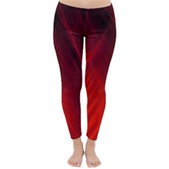Red Abstract Winter Leggings  by timelessartoncanvas