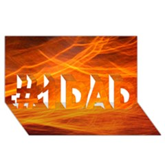 Orange Wonder #1 Dad 3d Greeting Card (8x4)  by timelessartoncanvas