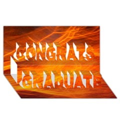 Orange Wonder Congrats Graduate 3d Greeting Card (8x4)  by timelessartoncanvas