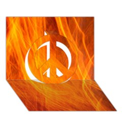 Orange Wonder 2 Peace Sign 3d Greeting Card (7x5)  by timelessartoncanvas