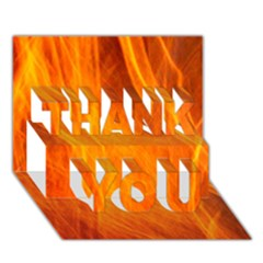 Orange Wonder 2 Thank You 3d Greeting Card (7x5)  by timelessartoncanvas
