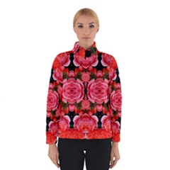 Beautiful Red Roses Winter Jacket by Costasonlineshop