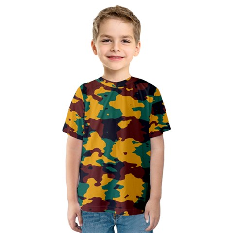 Camo Texture Kid s Sport Mesh Tee by LalyLauraFLM