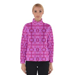 Pretty Pink Flower Pattern Winter Jacket