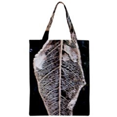 Modern Leaf 2 Zipper Classic Tote Bags by timelessartoncanvas