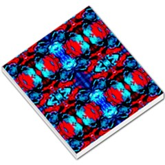 Red Black Blue Art Pattern Abstract Small Memo Pads by Costasonlineshop