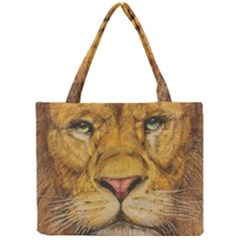 Regal Lion Drawing Tiny Tote Bags by KentChua