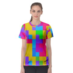 Colorful Tetris Shapes Women s Sport Mesh Tee by LalyLauraFLM