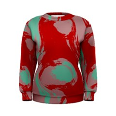 Red Pink Green Texture  Women s Sweatshirt by LalyLauraFLM