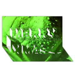 Green And Powerful Merry Xmas 3d Greeting Card (8x4)  by timelessartoncanvas