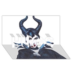 Maleficent Drawing Hugs 3d Greeting Card (8x4)