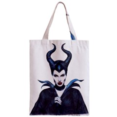 Maleficent Drawing Zipper Classic Tote Bags by KentChua