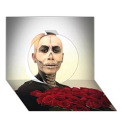 Halloween Skull Tux And Roses  Circle 3d Greeting Card (7x5)