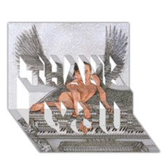 Angel And The Piano Drawing Thank You 3d Greeting Card (7x5)