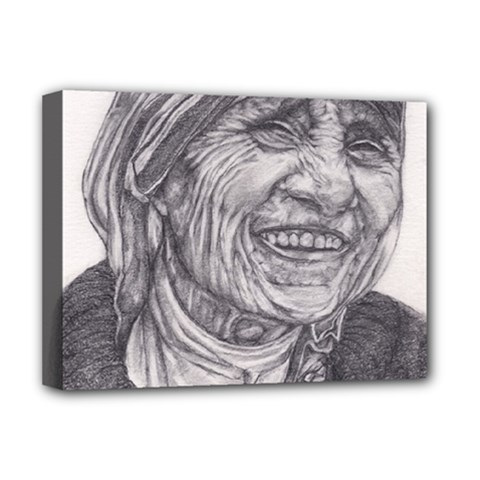 Mother Theresa  Pencil Drawing Deluxe Canvas 16  X 12