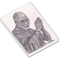Dalai Lama Tenzin Gaytso Pencil Drawing Large Memo Pads by KentChua