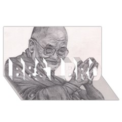 Dalai Lama Tenzin Gaytso Pencil Drawing Best Bro 3d Greeting Card (8x4)  by KentChua