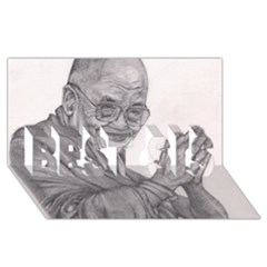 Dalai Lama Tenzin Gaytso Pencil Drawing Best Sis 3d Greeting Card (8x4)  by KentChua