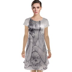 Alexander Mcqueen Pencil Drawing Cap Sleeve Nightdress