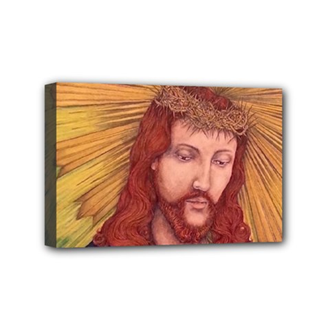 Sacred Heart Of Jesus Christ Drawing Mini Canvas 6  X 4  by KentChua