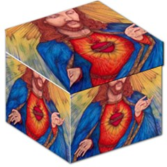 Sacred Heart Of Jesus Christ Drawing Storage Stool 12   by KentChua