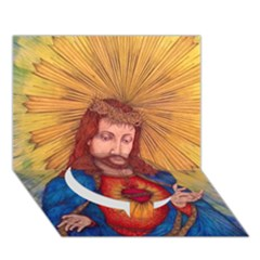 Sacred Heart Of Jesus Christ Drawing Circle Bottom 3d Greeting Card (7x5)  by KentChua