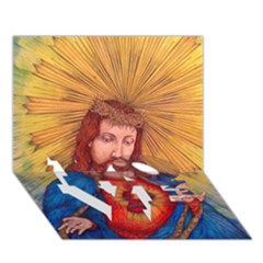Sacred Heart Of Jesus Christ Drawing Love Bottom 3d Greeting Card (7x5)  by KentChua