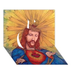 Sacred Heart Of Jesus Christ Drawing Apple 3d Greeting Card (7x5)  by KentChua
