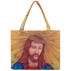 Sacred Heart Of Jesus Christ Drawing Tiny Tote Bags by KentChua