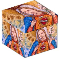 Immaculate Heart Of Virgin Mary Drawing Storage Stool 12   by KentChua