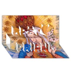 Immaculate Heart Of Virgin Mary Drawing Best Friends 3d Greeting Card (8x4)  by KentChua