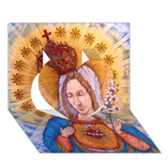 Immaculate Heart Of Virgin Mary Drawing Heart 3d Greeting Card (7x5)  by KentChua