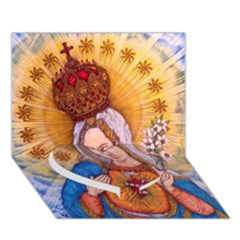 Immaculate Heart Of Virgin Mary Drawing Heart Bottom 3d Greeting Card (7x5)  by KentChua