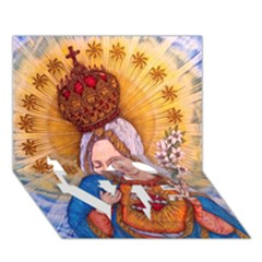 Immaculate Heart Of Virgin Mary Drawing Love Bottom 3d Greeting Card (7x5)  by KentChua