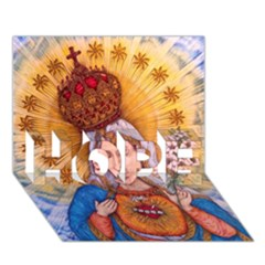 Immaculate Heart Of Virgin Mary Drawing Hope 3d Greeting Card (7x5)  by KentChua