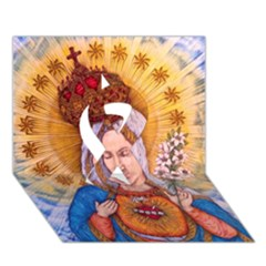 Immaculate Heart Of Virgin Mary Drawing Ribbon 3d Greeting Card (7x5)  by KentChua