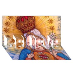 Immaculate Heart Of Virgin Mary Drawing Believe 3d Greeting Card (8x4)  by KentChua