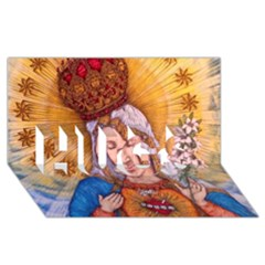 Immaculate Heart Of Virgin Mary Drawing Hugs 3d Greeting Card (8x4)  by KentChua